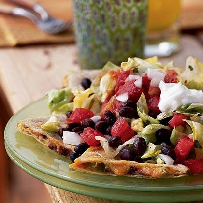 Cheddar-Jalapeño Quesadilla Salad with Cilantro-Lime Vinaigrette Recipe