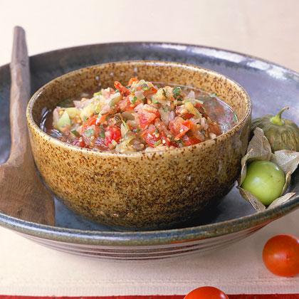 Smoked Tomato-and-Tomatillo Salsa Recipe