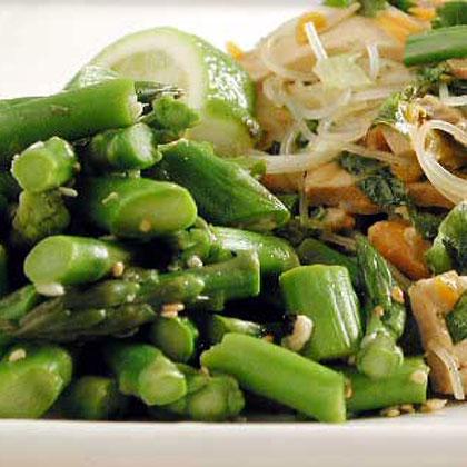 Asparagus with Ginger Vinaigrette Recipe