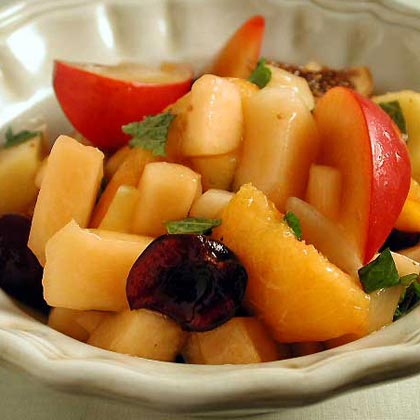 Summer Fruit Salad with Lemon-and-Honey Syrup
