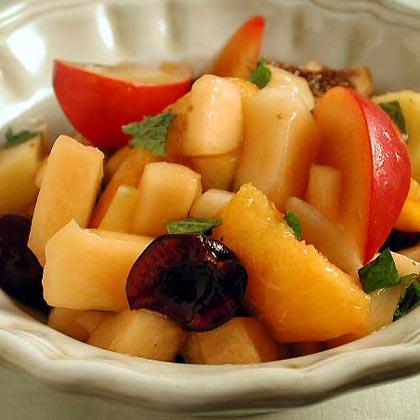 Summer Fruit Salad with Lemon-and-Honey SyrupRecipe
