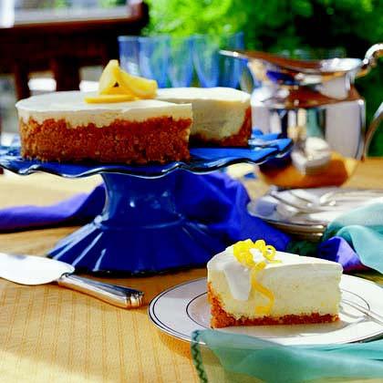 Lemon-Topped Cheesecake