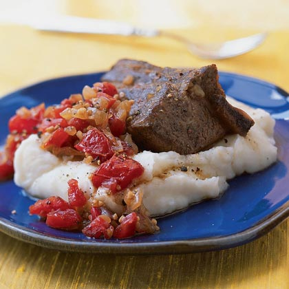 Balsamic-Braised Short Ribs with Horseradish Mashed Potatoes
