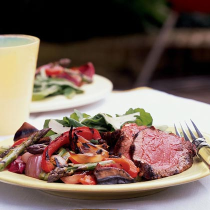 Tenderloin with Grilled Antipasto Vegetables