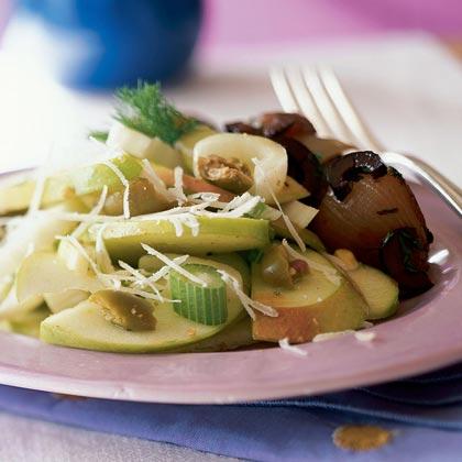 Fennel Salad with Green Olive Vinaigrette