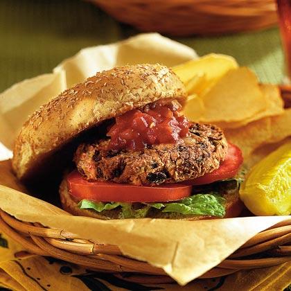 Bean Burgers with Adobo Mayonnaise