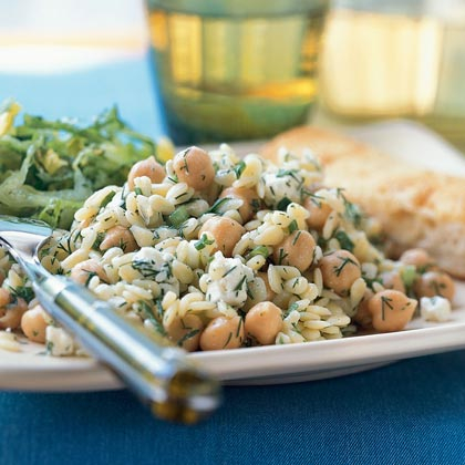 Orzo Salad with Chickpeas, Dill, and Lemon