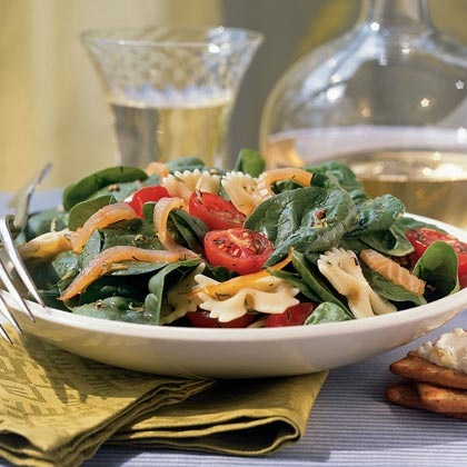 Summer Farfalle Salad with Smoked Salmon