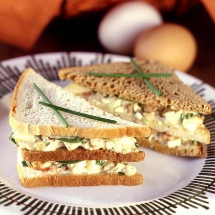 Egg Salad Club Sandwiches