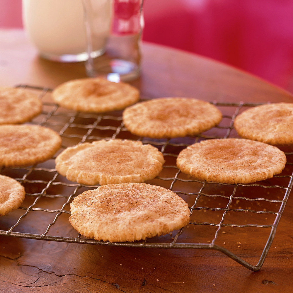 Snickerdoodles RecipeJust hearing the word snickerdoodle makes us excited to take a bite of these chewy, buttery cookies dusted with cinnamon.