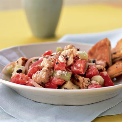 Chicken Souvlaki Salad Recipe | MyRecipes