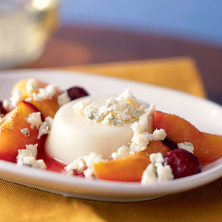 Panna Cotta with Vermont Blue Cheese and Roasted Stone Fruit
