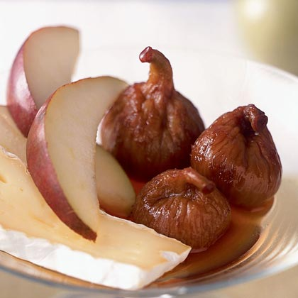 Pears with Teleme and Fig Compote