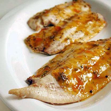 Pompano with Tropical Barbecue Glaze