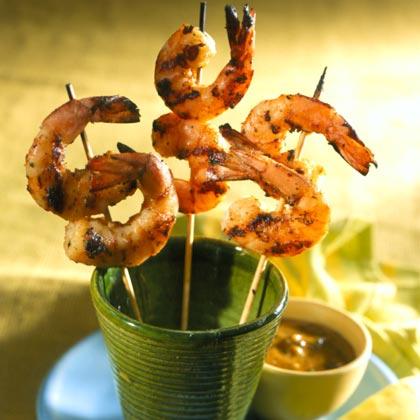 Shrimp Saté with Peanut Sauce