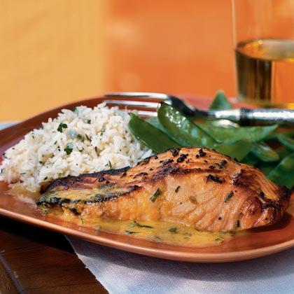 Salmon with Orange-Fennel Sauce Recipe