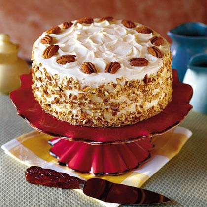 The Irish cream liqueur in this cake makes the recipe extra-special. Butterscotch filling and a cream cheese frosting make it over-the-top divine.Irish Cream Cake Recipe