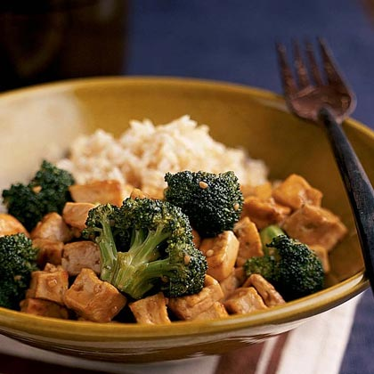 Broccoli-Tofu Stir-Fry Recipe | MyRecipes.com
