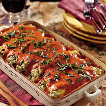 Chicken Cannelloni with Roasted Red Bell Pepper SauceRecipe