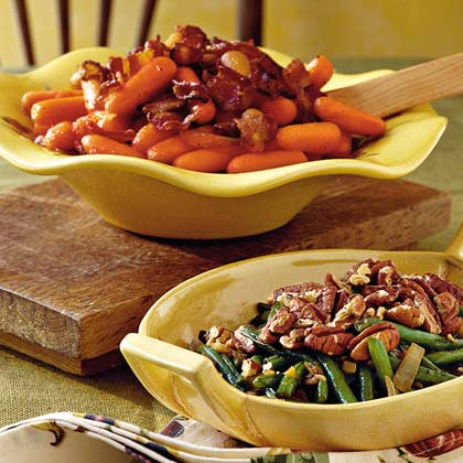 Glazed Carrots with Bacon and Onion