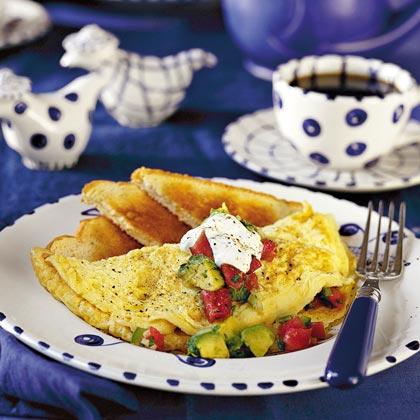 Spanish Omelet with Fresh Avocado Salsa