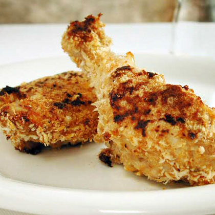 Cajun Oven-Fried Chicken RecipeFor the crispiest coating, use panko (Japanese breadcrumbs) when oven-baking. Remove the skin from the chicken before coating with breadcrumbs to cut back on the total fat.