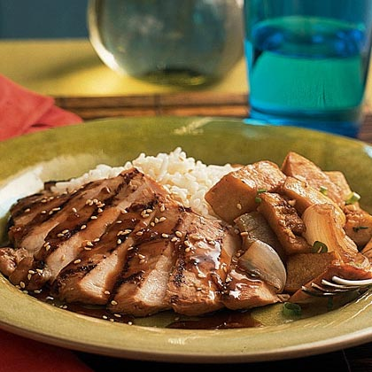 Grilled Chicken with Whiskey-Ginger MarinadeRecipe