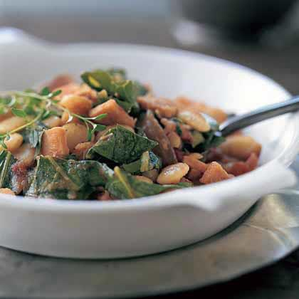 Collard Greens with Lima Beans and Smoked TurkeyRecipe