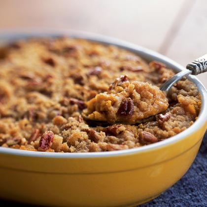 Streuseled Sweet Potato Casserole RecipeIt's easier than you think to bake a sweet potato casserole!  Get step-by-step instructions for cooking this traditional holiday dish that's topped with a buttery, sweet, nutty streusel.Video: How to Cook Streuseled Sweet Potato Casserole