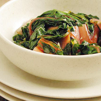 Swiss Chard with Garlic and Oregano