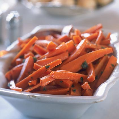 Carrots RecipeFoods high in potassium, such as carrots, may help protect against high blood pressure. And carrots are also high in vitamin A, a powerful antioxidant that may help prevent certain types of cancer. This tangy side dish is worthy of the holiday table, but also great as a weeknight side dish for pork or beef.
