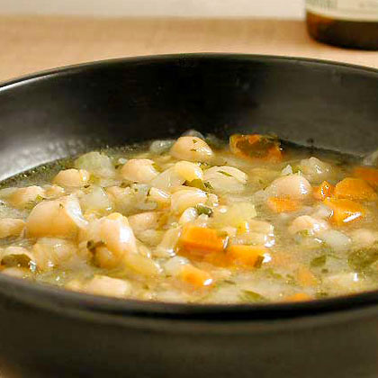 Kamut, Lentil, and Chickpea Soup