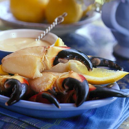 Stone Crab Claws with Mustard Sauce Recipe | MyRecipes