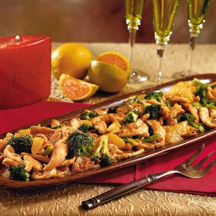 Spicy Ginger-and-Orange Chicken with Broccoli Recipe | MyRecipes