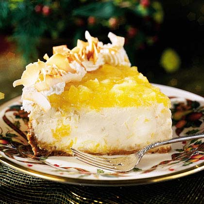 Festive Pina Colada Cheesecake