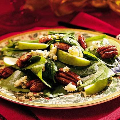 Spinach-Pecan Salad Recipe