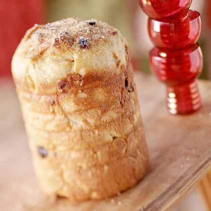 Panettone (Italian Christmas Bread) RecipeThis sweet cylinder-shaped bread is similar to a fruitcake and traditionally served during the holidays in italy.
