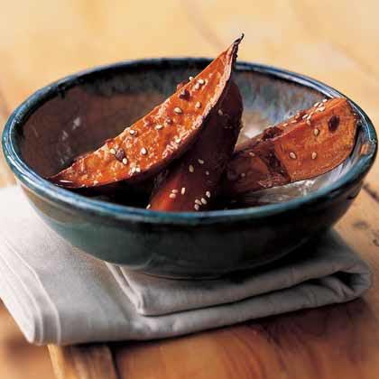 Soy-Glazed Sweet Potatoes Recipe