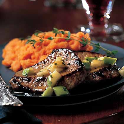 Veal Medallions with Apple-Thyme Sauce Recipe