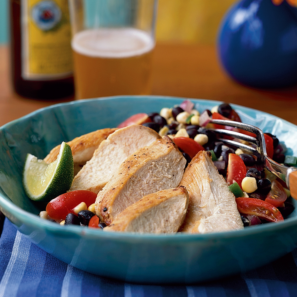 Chicken with Black Bean Salsa