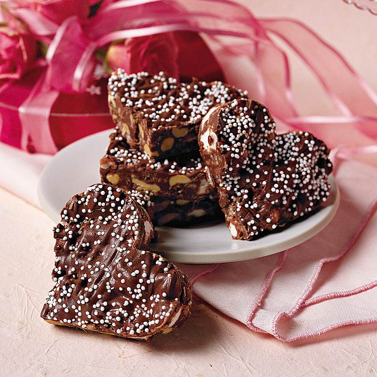 Crispy Chocolate Hearts