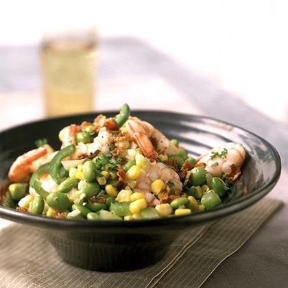 Edamame Succotash with Shrimp Recipe