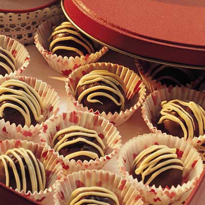 Raspberry-Fudge Truffles Recipe | MyRecipes.com