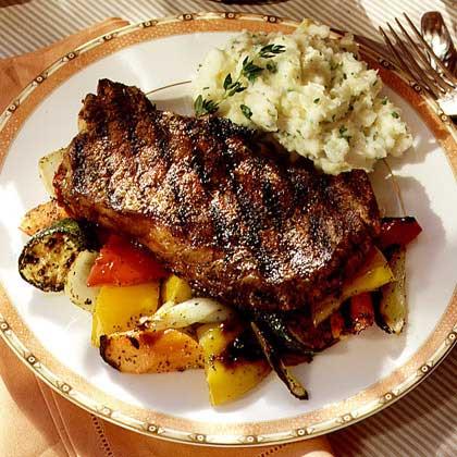 Peppered Rib-Eye Steaks