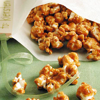 Caramel Popcorn RecipeButtered popcorn becomes even better when you add caramel flavor with brown sugar, corn syrup and light molasses.  You'd better make several batches, because this treat won't last long.