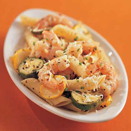 Shrimp-and-Squash Penne Recipe
