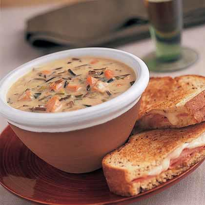 Creamy Wild-Rice Soup with Smoked Turkey