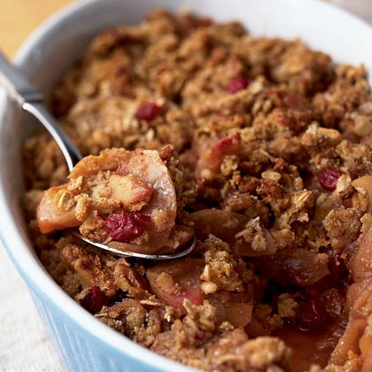 Apple-Cranberry Walnut Crisp Recipe | MyRecipes
