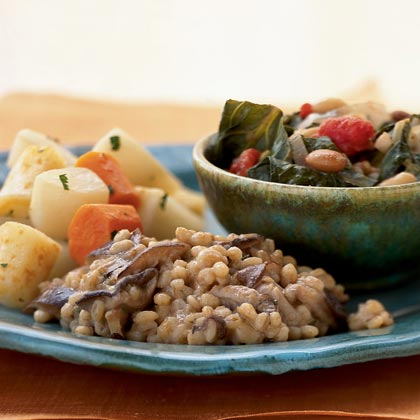 Smothered Beans with Leeks and Collard Greens Recipe