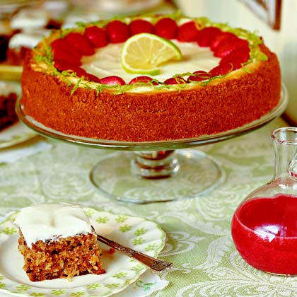 Key Lime Cheesecake with Strawberry Sauce Recipe